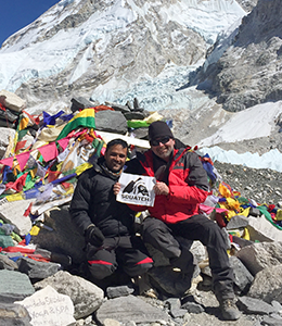 Steve Lovitt and Squatch Industries at Mt Everest Base Camp February 14th 2016